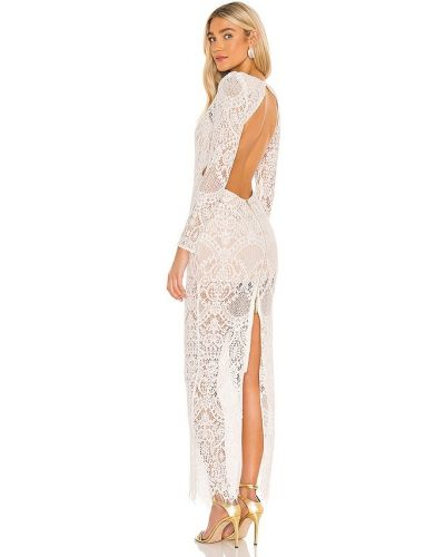 Открытое белое платье макси с открытой спиной Bronx And Banco