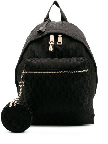 Кожаная черная сумка на молнии Sandro Paris