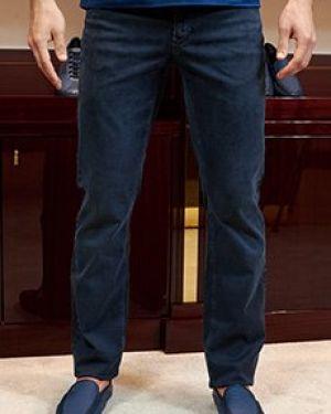 Синие прямые джинсы с жемчугом Zilli