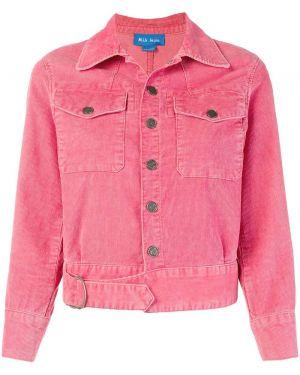 Хлопковая джинсовая куртка - розовая Mih Jeans
