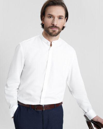 Белая рубашка с длинными рукавами с воротником Ostin