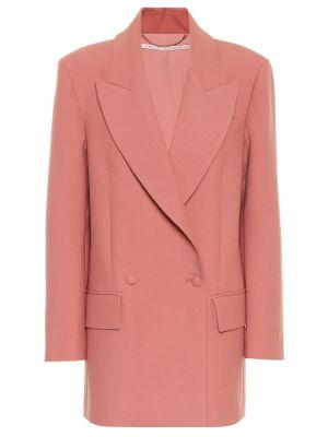 Розовый пиджак из габардина Emilia Wickstead