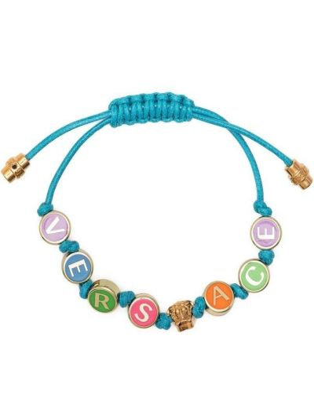 Niebieska bransoletka łańcuch Versace