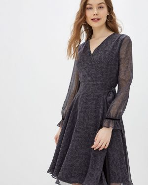 Платье серое с запахом Lusio