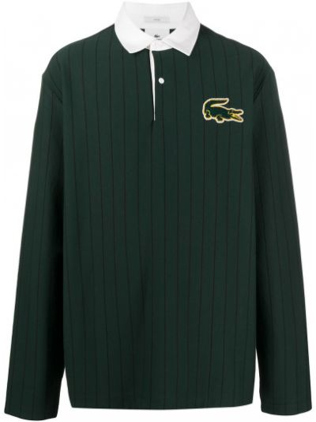 Zielona koszula bawełniana z długimi rękawami Lacoste Live