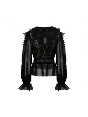 Шелковая блузка с декоративной отделкой Zuhair Murad