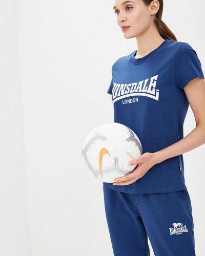 Футболка синий Lonsdale