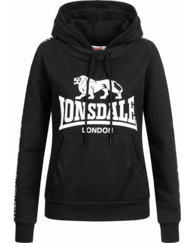 Черная спортивная кофта Lonsdale