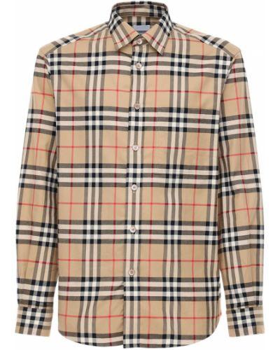 Bawełna bawełna beżowy koszula z mankietami Burberry