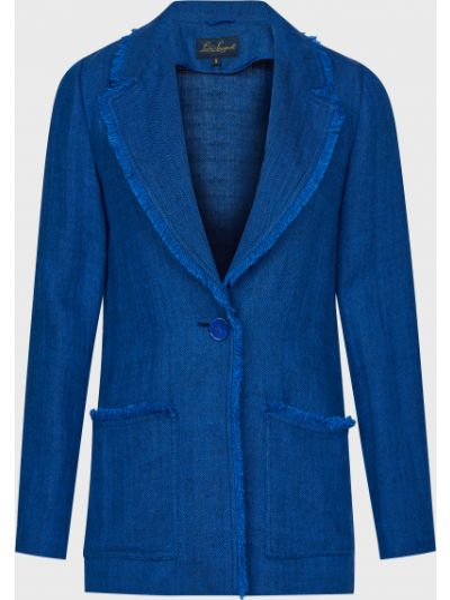 Синий пиджак на пуговицах Luisa Spagnoli