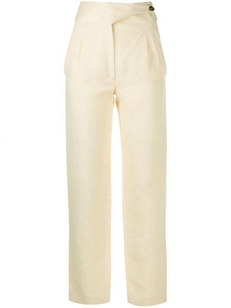 Прямые брюки с воротником с карманами на пуговицах Blazé Milano