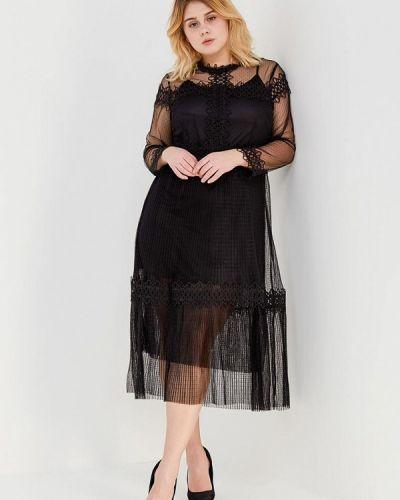 Коктейльное платье плиссированное черное Lost Ink Plus