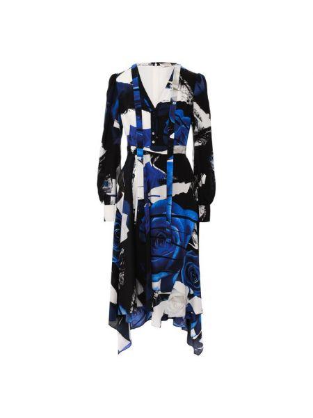 Платье шелковое из крепа Alexander Mcqueen