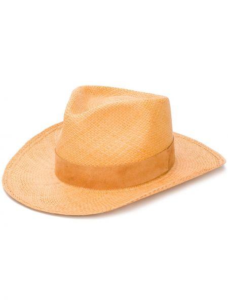 Оранжевые плетеные шляпа-федора Super Duper Hats