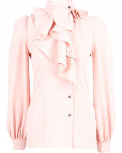 Блузка розовая с пышными рукавами Via Torriani 88