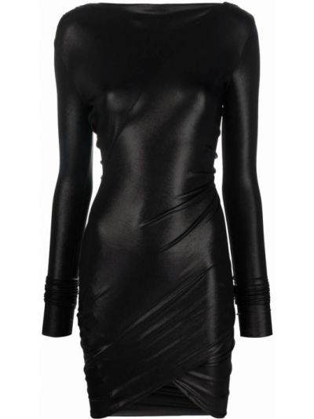 Платье макси с длинными рукавами - черное Rick Owens Lilies