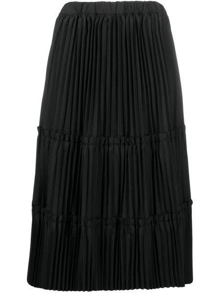 Черная с завышенной талией плиссированная юбка миди Comme Des Garçons