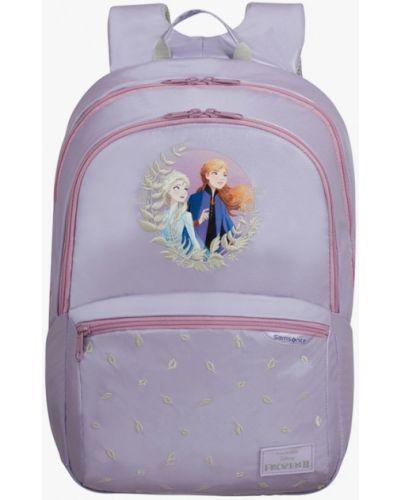 Фиолетовый кожаный рюкзак Samsonite
