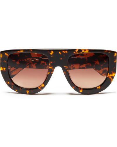Коричневые солнцезащитные очки Ganni