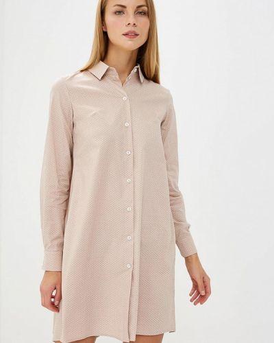 Бежевое платье рубашка Trendyangel