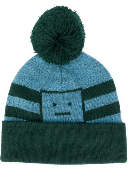 Niebieski akryl kapelusz z paskami Acne Studios