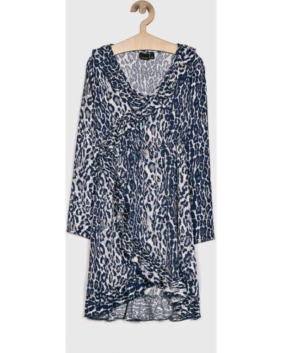 Платье с рукавами синий расклешенное Lmtd