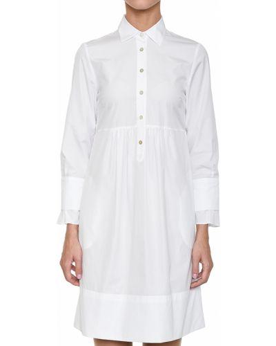 Хлопковое платье - белое Barba Napoli