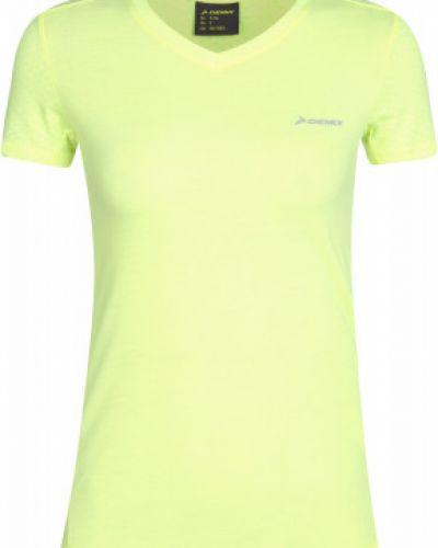 Хлопковая желтая спортивная футболка сетчатая Demix