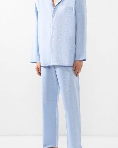 Голубая пижама хлопковая Zimmerli