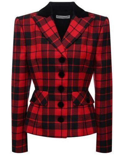 Красный итальянский пиджак Alessandra Rich