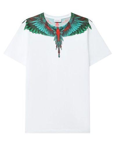 Хлопковая белая футболка Marcelo Burlon Kids Of Milan
