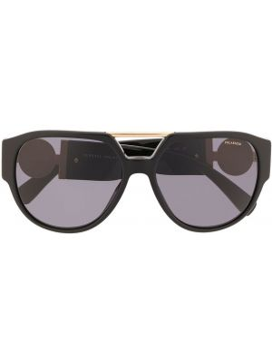 Солнцезащитные очки авиаторы черные Versace Eyewear