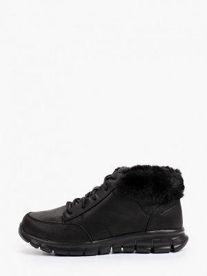 Черные зимние ботинки Skechers