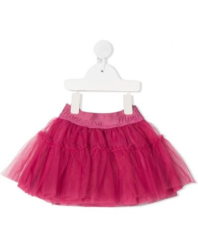 Ватная розовая юбка из фатина Monnalisa