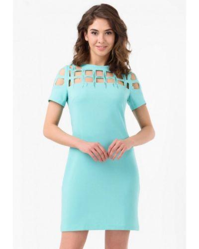 Платье весеннее бирюзовый Ricamare