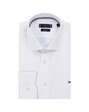 Koszula klasyczna lato z popeliny Tommy Hilfiger Tailored