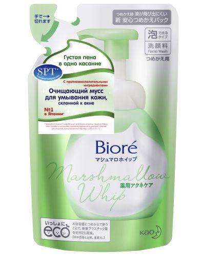 Комбинированный кожаный мусс для умывания очищающий Biore