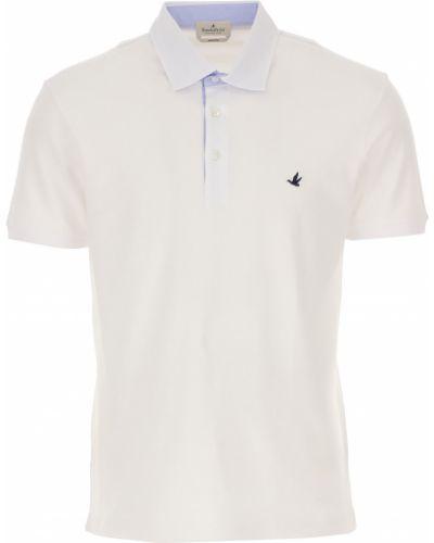 Niebieski t-shirt bawełniany krótki rękaw Brooksfield