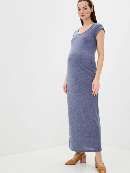Платье для беременных футболка синее Mama.licious