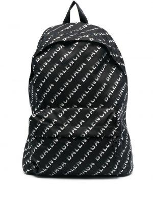 Czarny plecak z haftem Balenciaga