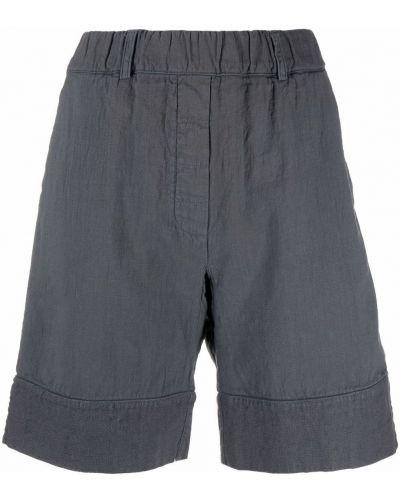 Серые льняные шорты с карманами Kristensen Du Nord