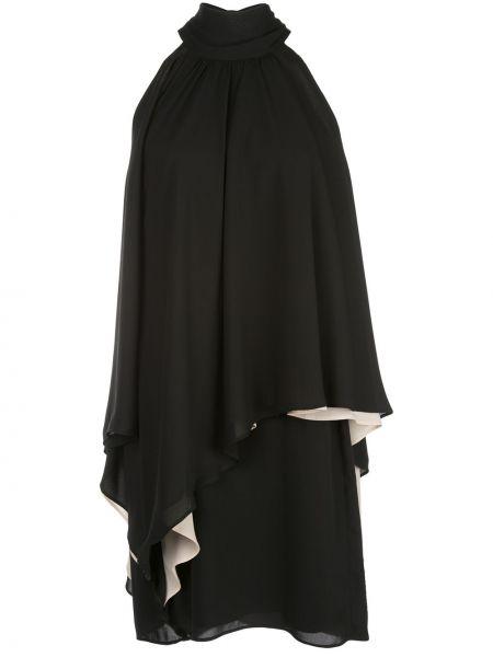 Приталенное платье мини на молнии с драпировкой без рукавов Halston Heritage