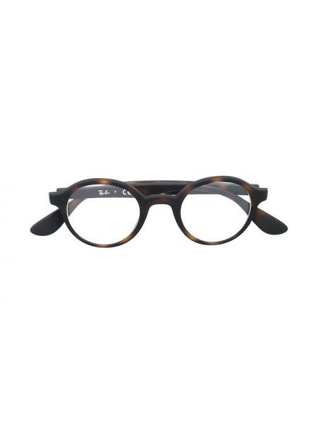 Коричневые прямые очки для зрения круглые Ray-ban Junior