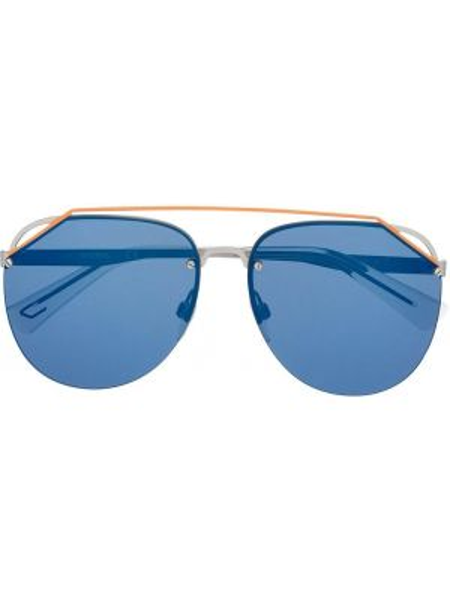 Синие муслиновые прямые солнцезащитные очки Diesel