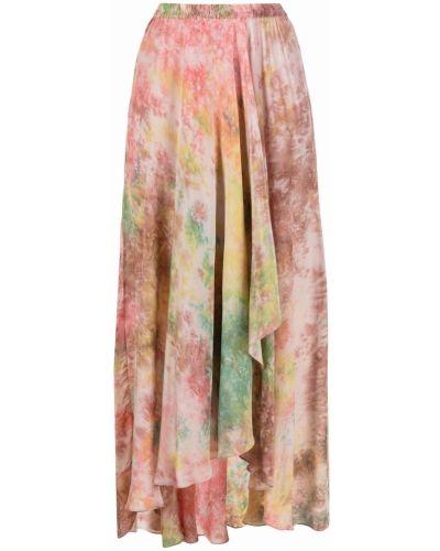 Асимметричная юбка с драпировкой с потайной застежкой с принтом Mes Demoiselles