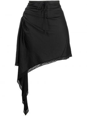 Koronkowa asymetryczny czarny spódnica T By Alexander Wang