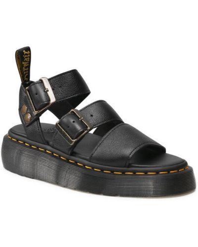 Sandały - czarne Dr. Martens