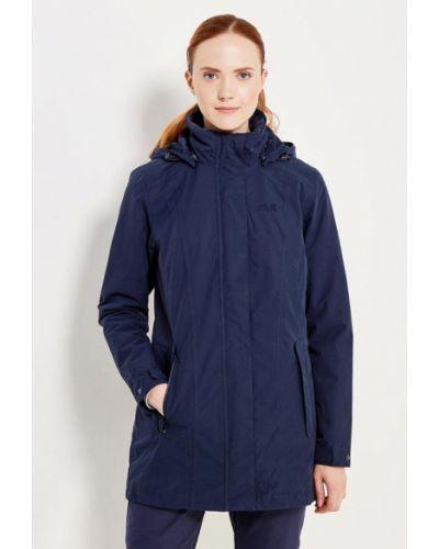 Утепленная куртка осенняя синий Jack Wolfskin