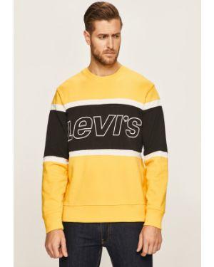 Bluza z kapturem z kapturem żółty Levi's
