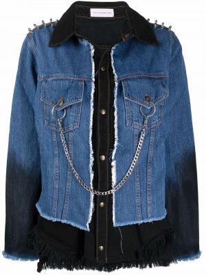 Хлопковая джинсовая куртка - синяя Faith Connexion